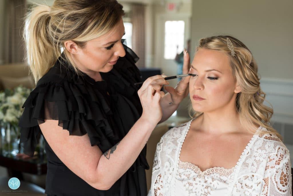 Bride in bridal suite of ACCC