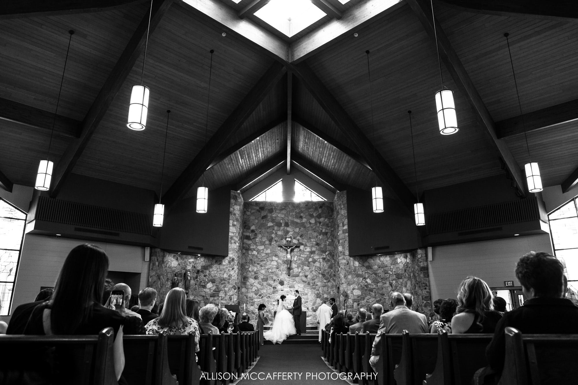 Bride and Groom in South Jersey church