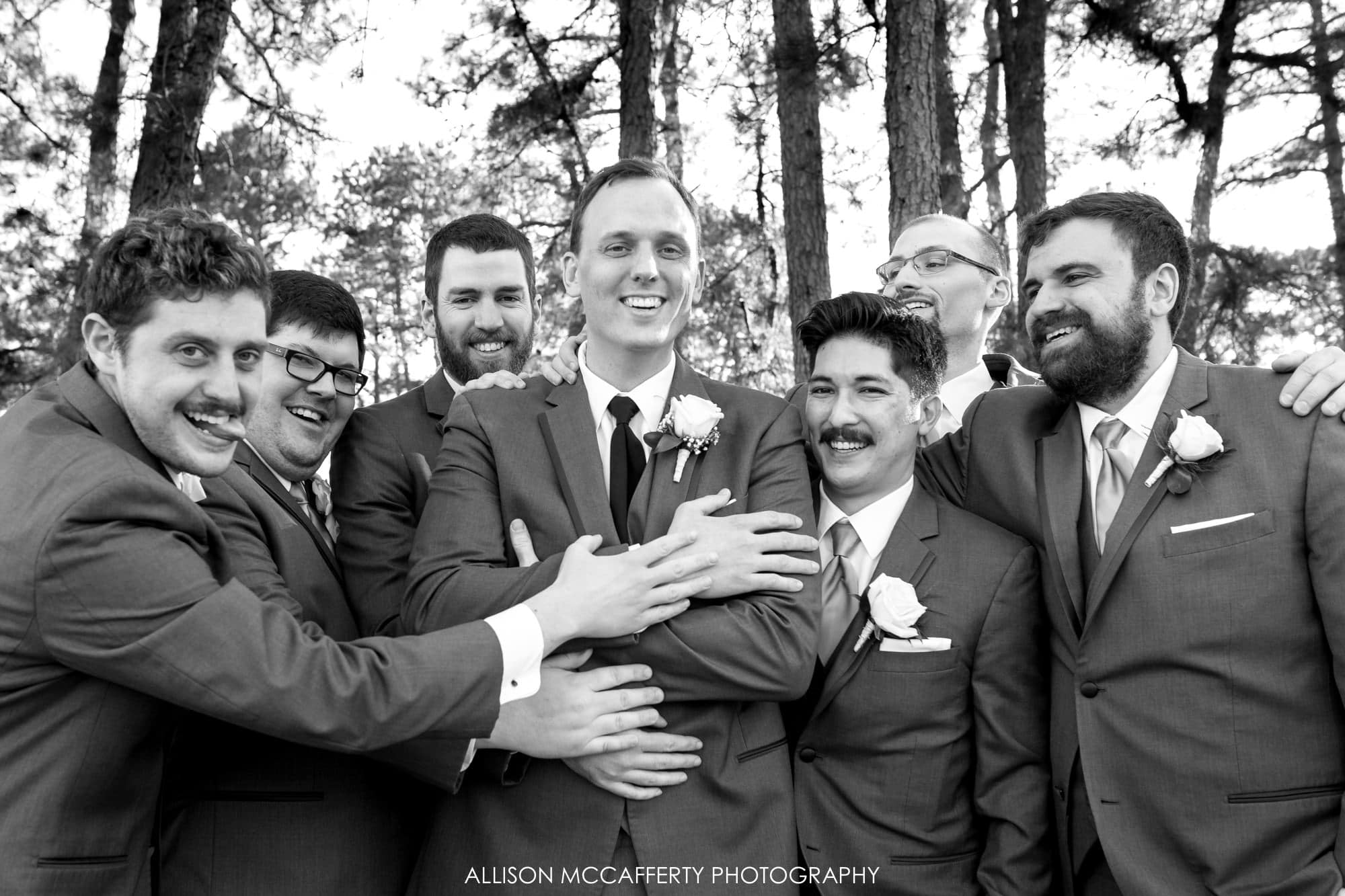 Groom and Groomsmen casual portrait