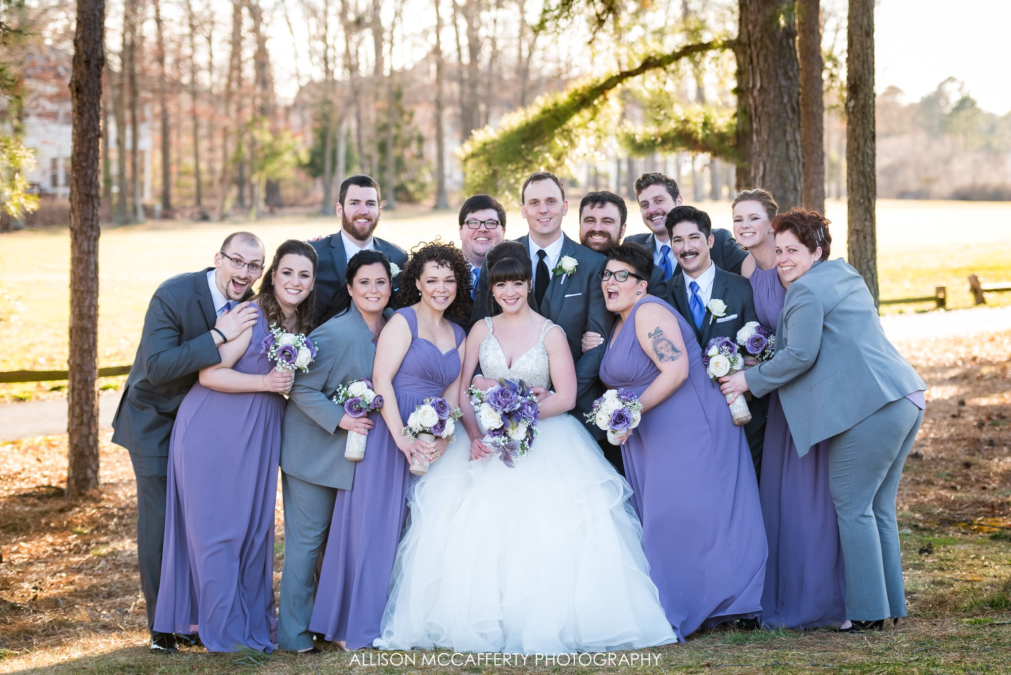 Bridal Party at Blue Heron Pines Golf Course