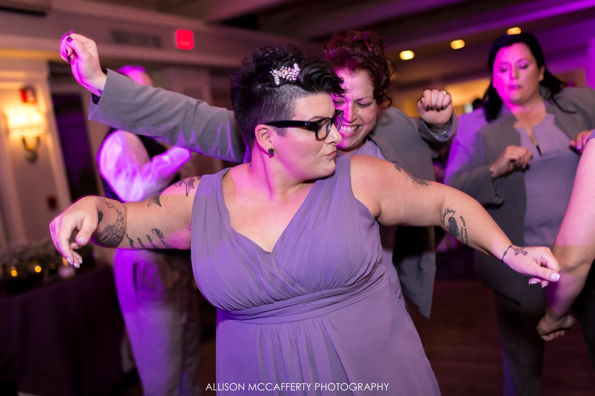 Dance Party during NJ wedding Blue Heron Pines Wedding Reception