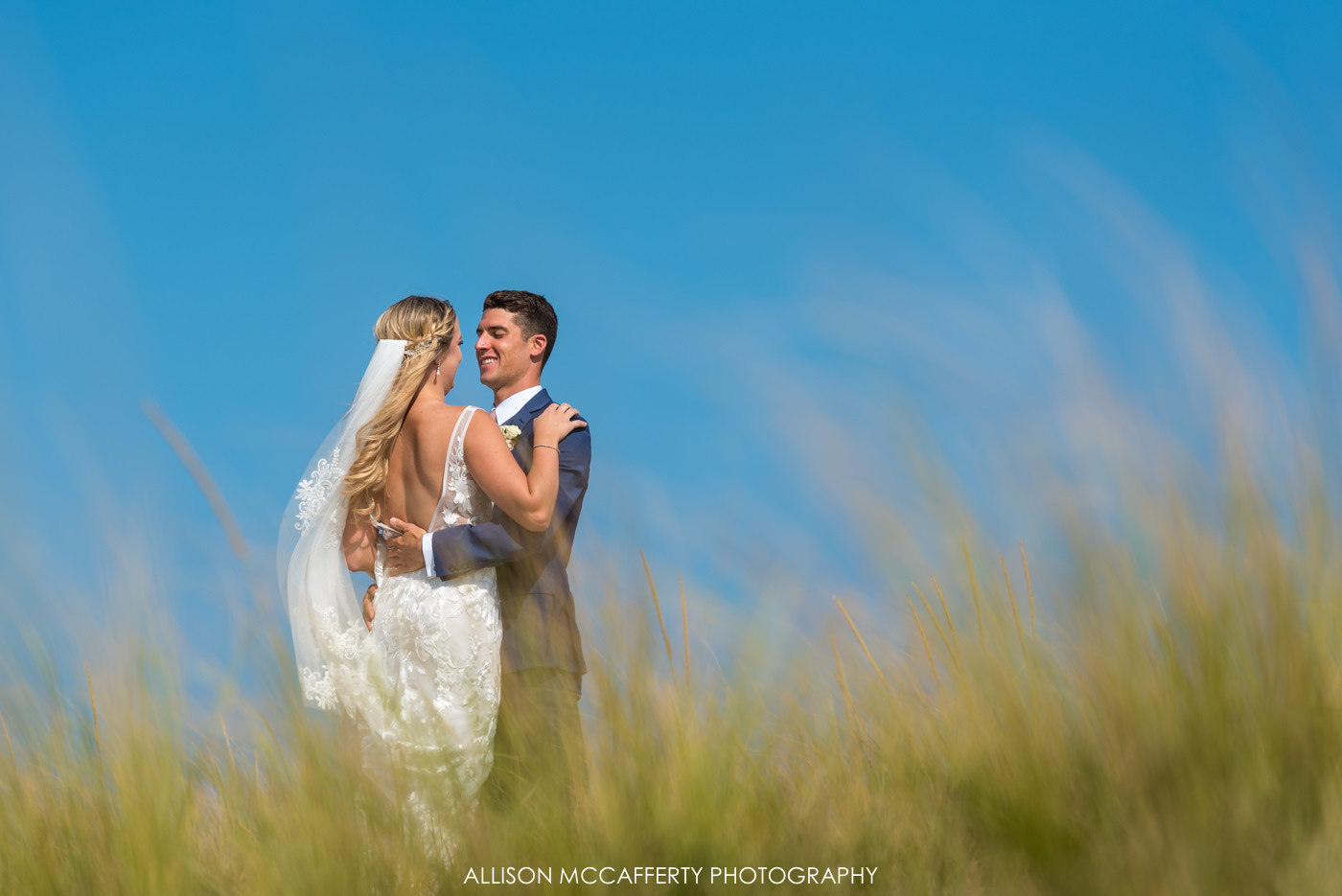 Bridal portraits on the beach in LBI