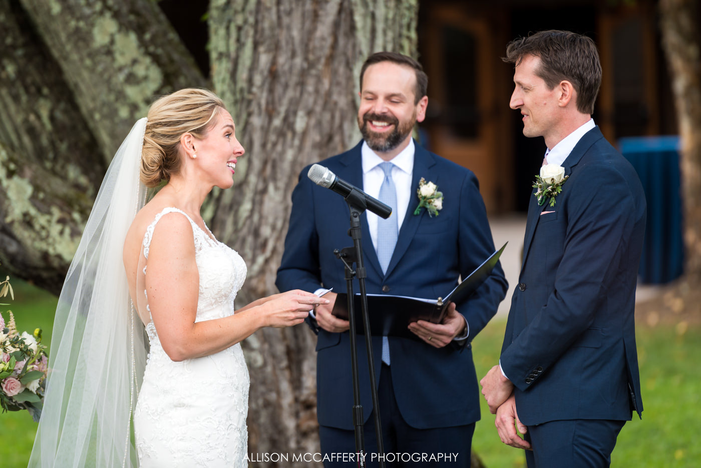 Outdoor ceremony at Rose Bank Winery