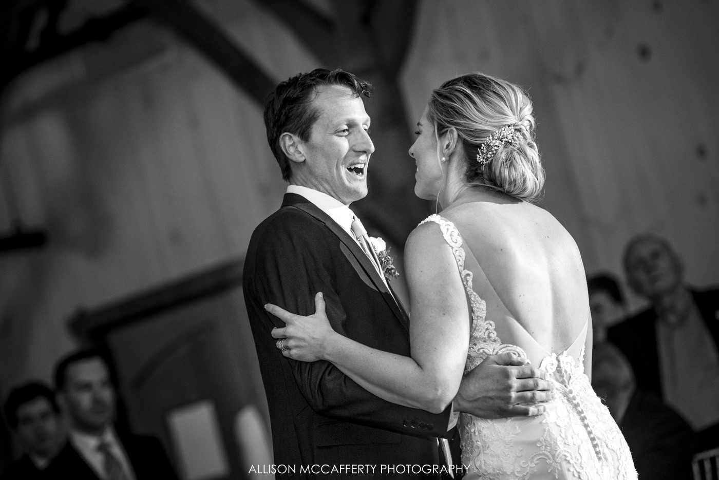 First dance at Rose Bank Winery wedding