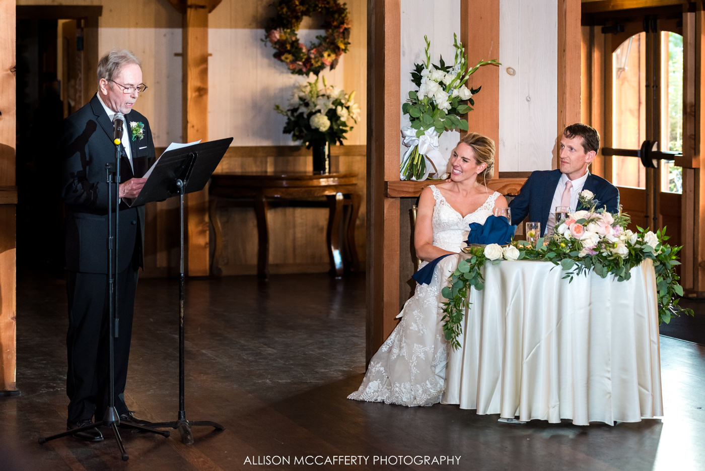 Father of the bride speech at Rose Bank Winery
