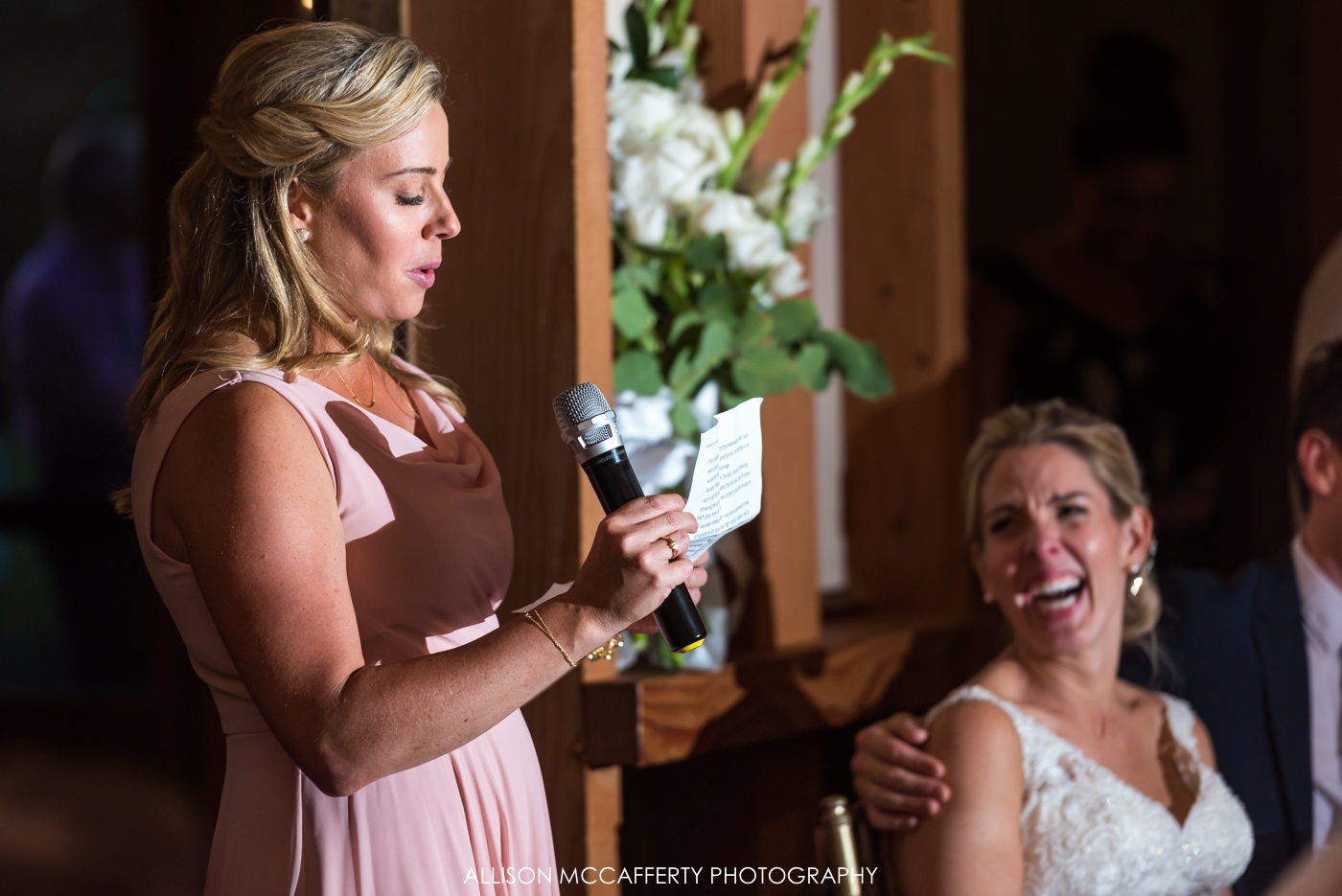 Maid of Honor speech at Rose Bank Winery