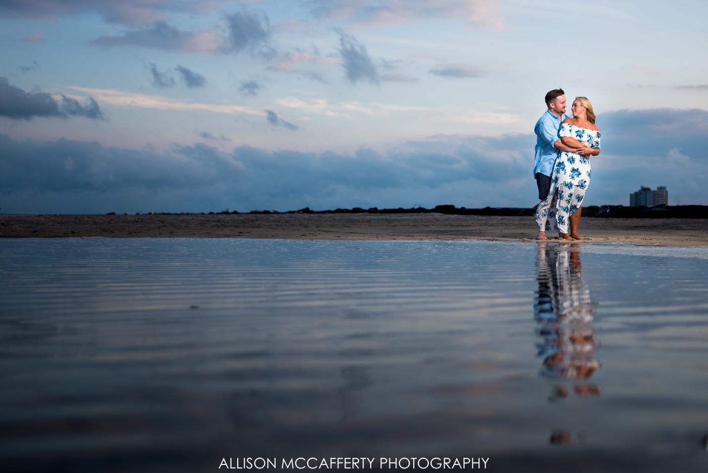 Brigantine Beach Engagement Photo