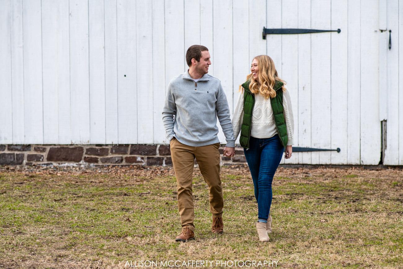 Washington Crossing Engagement Photographer