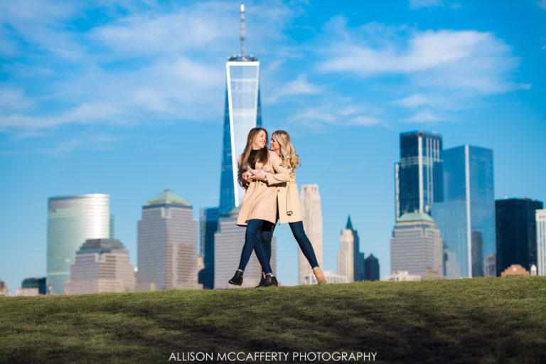 Liberty State Park Engagement Session | Kate & Casey