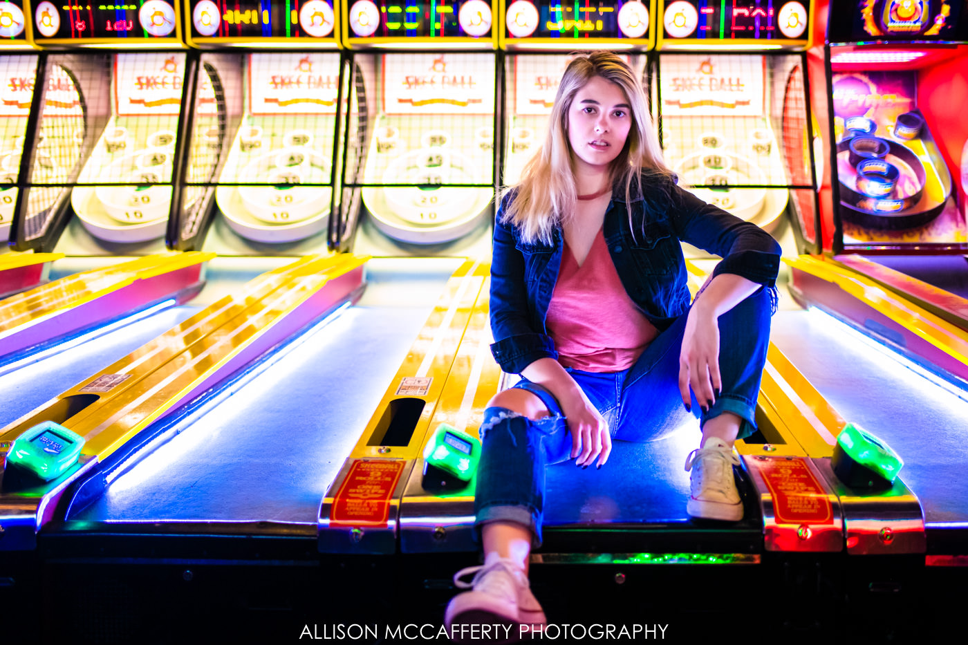 Photoshoot done inside Dave and Busters