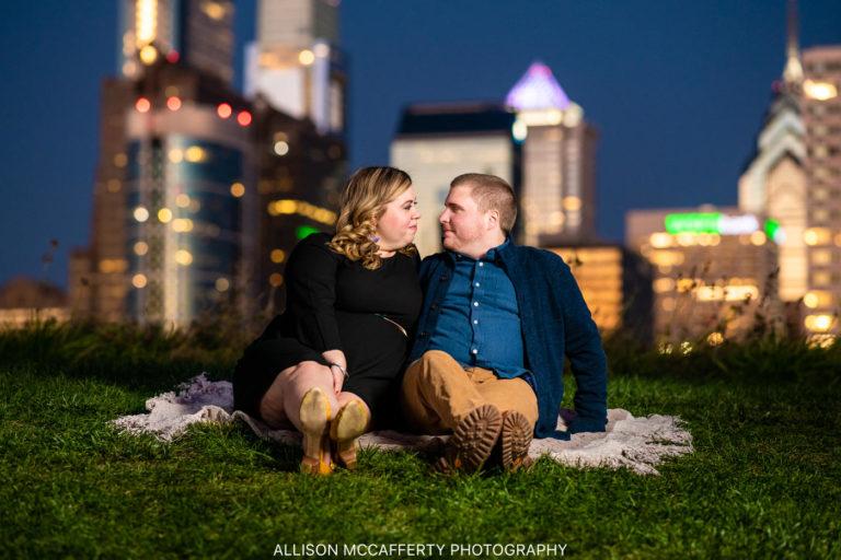 Alex & Frank | Cira Green, Philadelphia Engagement