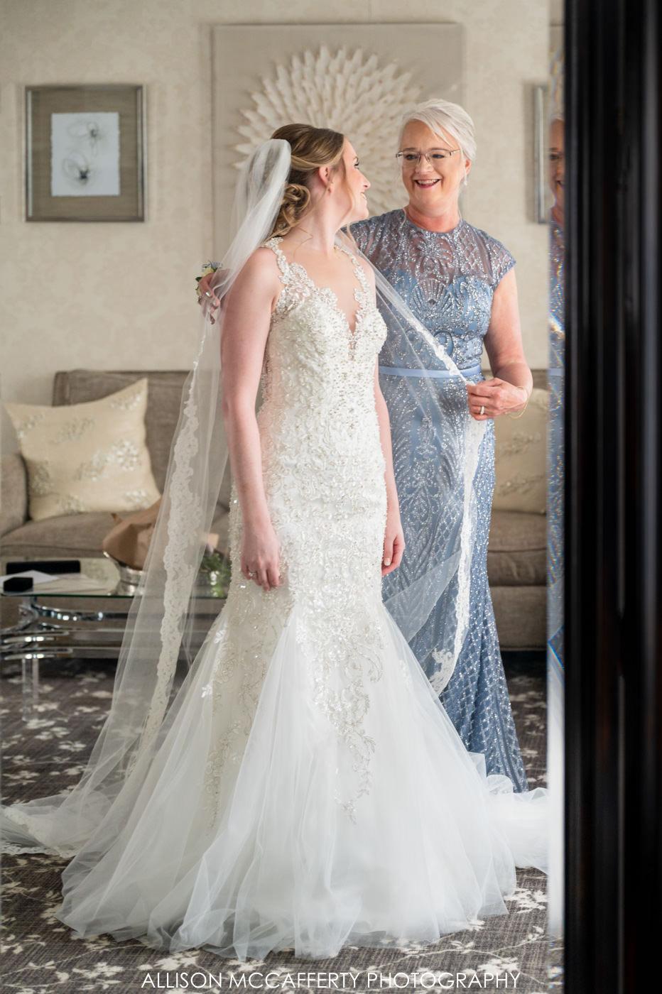 The English Manor Ocean Wedding Photo