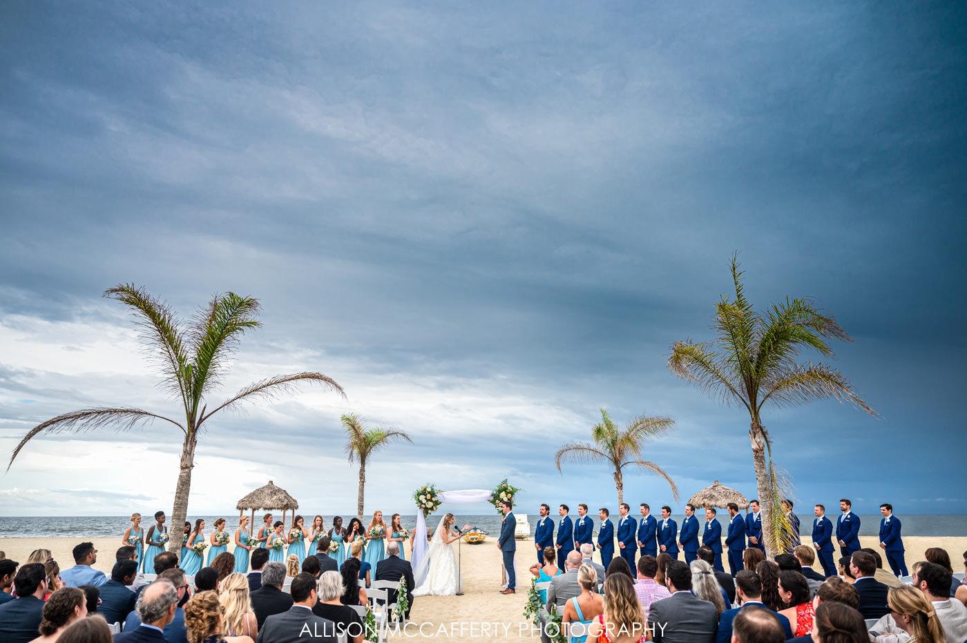 New Jersey Beach Wedding Photo