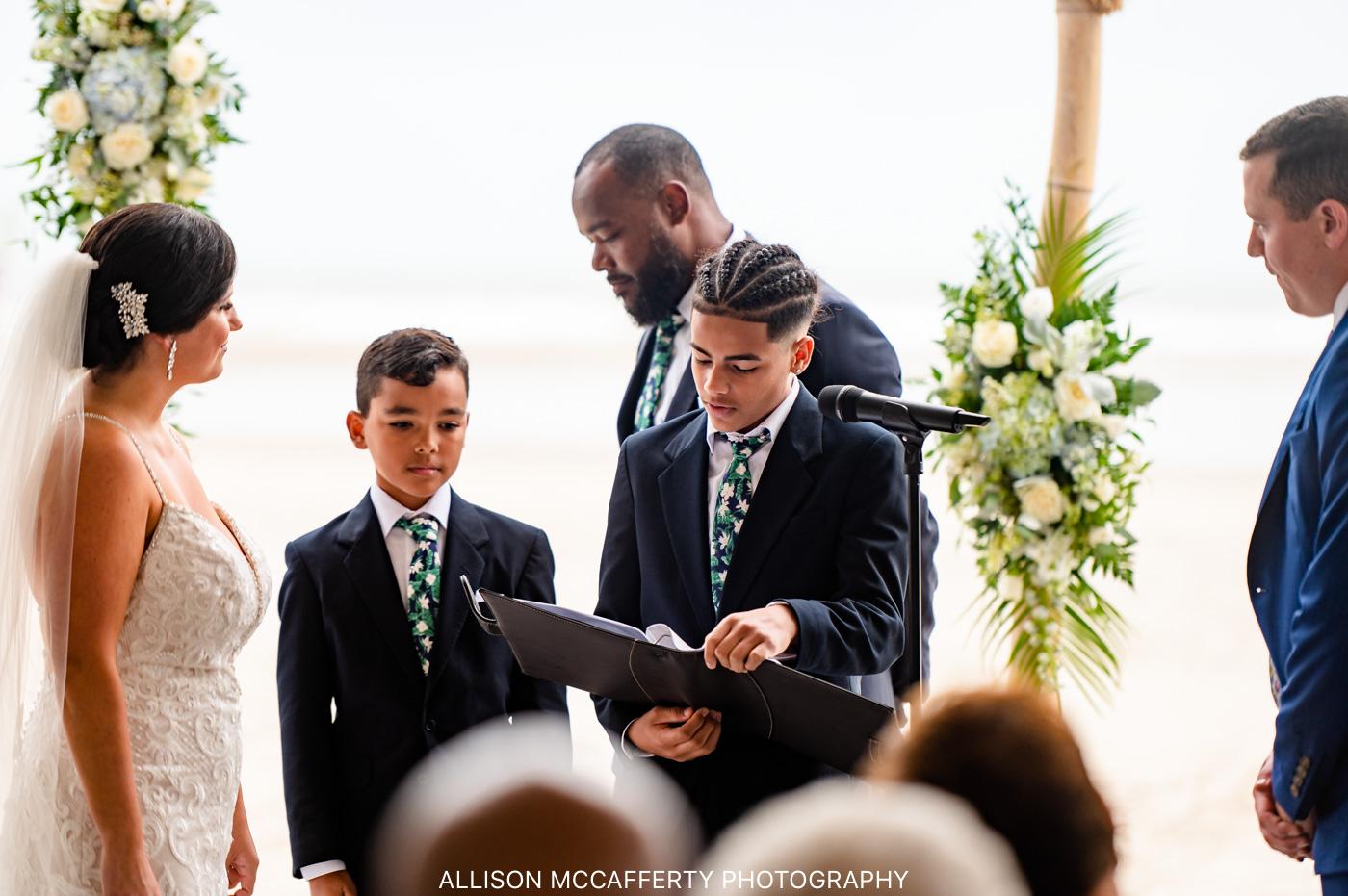 Diamond Beach ICONA Wedding Tented Ceremony