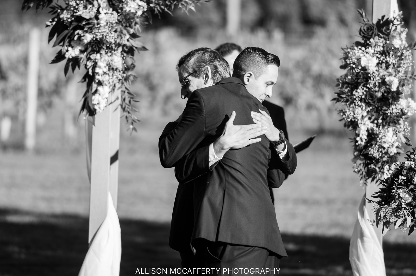Valenzano Winery Pavilion Wedding Photo
