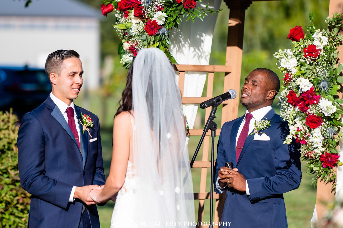 Valenzano Winery Pavilion Outdoor Wedding